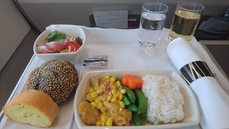 キャセイパシフィック 機内食 ビジネスクラス