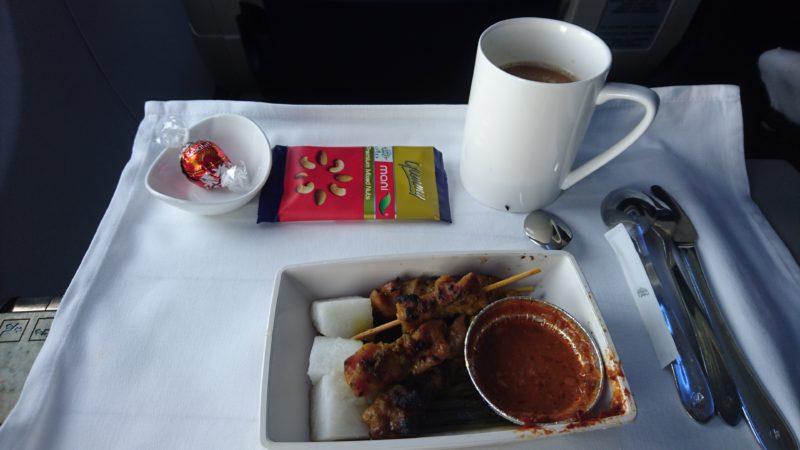 マレーシア航空 機内食 ビジネスクラス