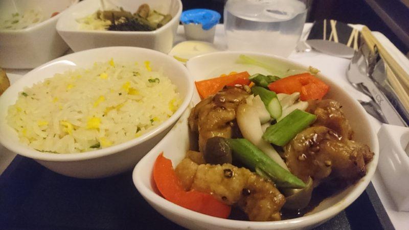 キャセイパシフィック ビジネスクラス 機内食