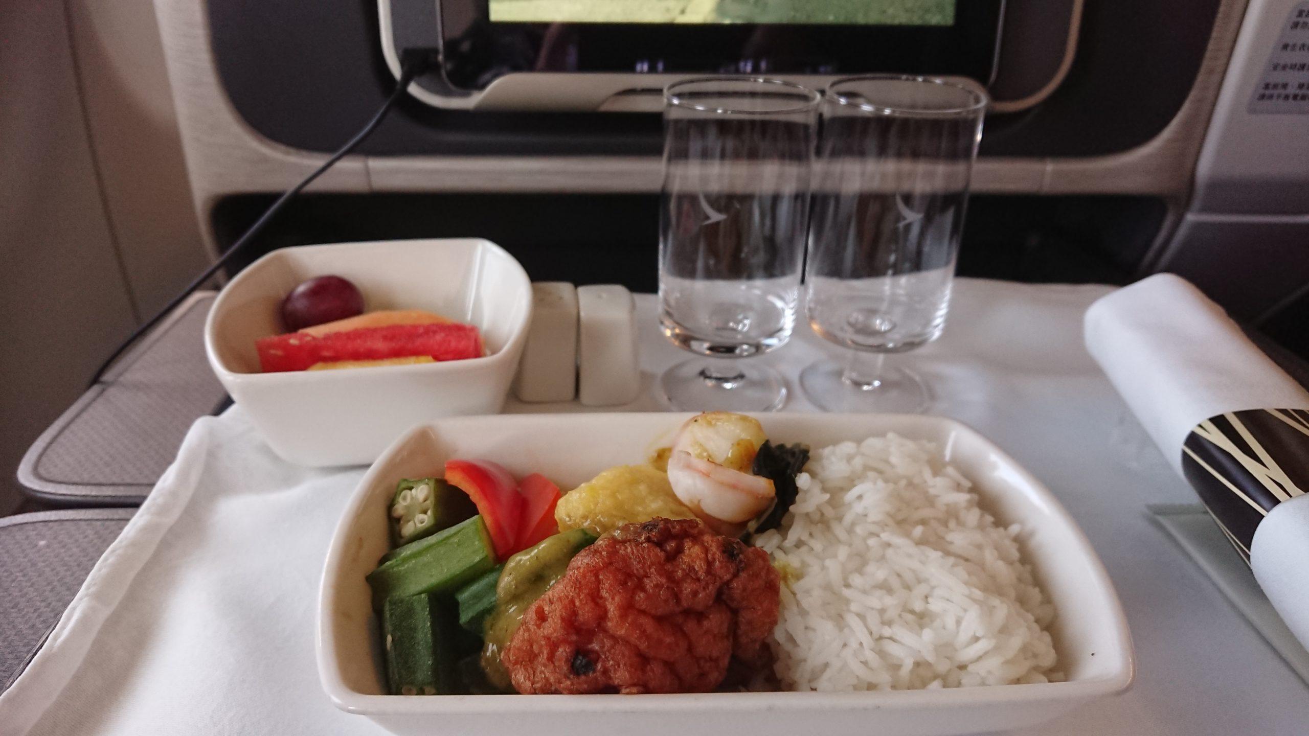 キャセイドラゴン ビジネスクラス 機内食