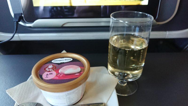 キャセイドラゴン航空 ビジネスクラス 機内食