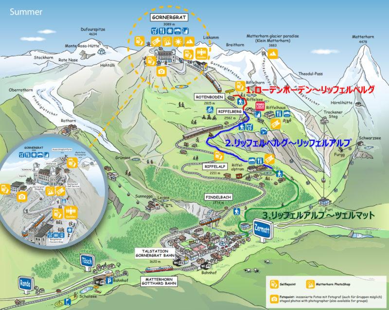 ツェルマット ハイキングコース