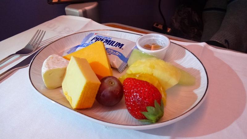 TG677 2016.03 タイ航空 ビジネスクラス 機内食