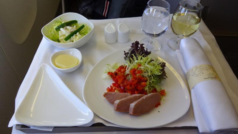 アシアナ航空 ビジネスクラス 機内食