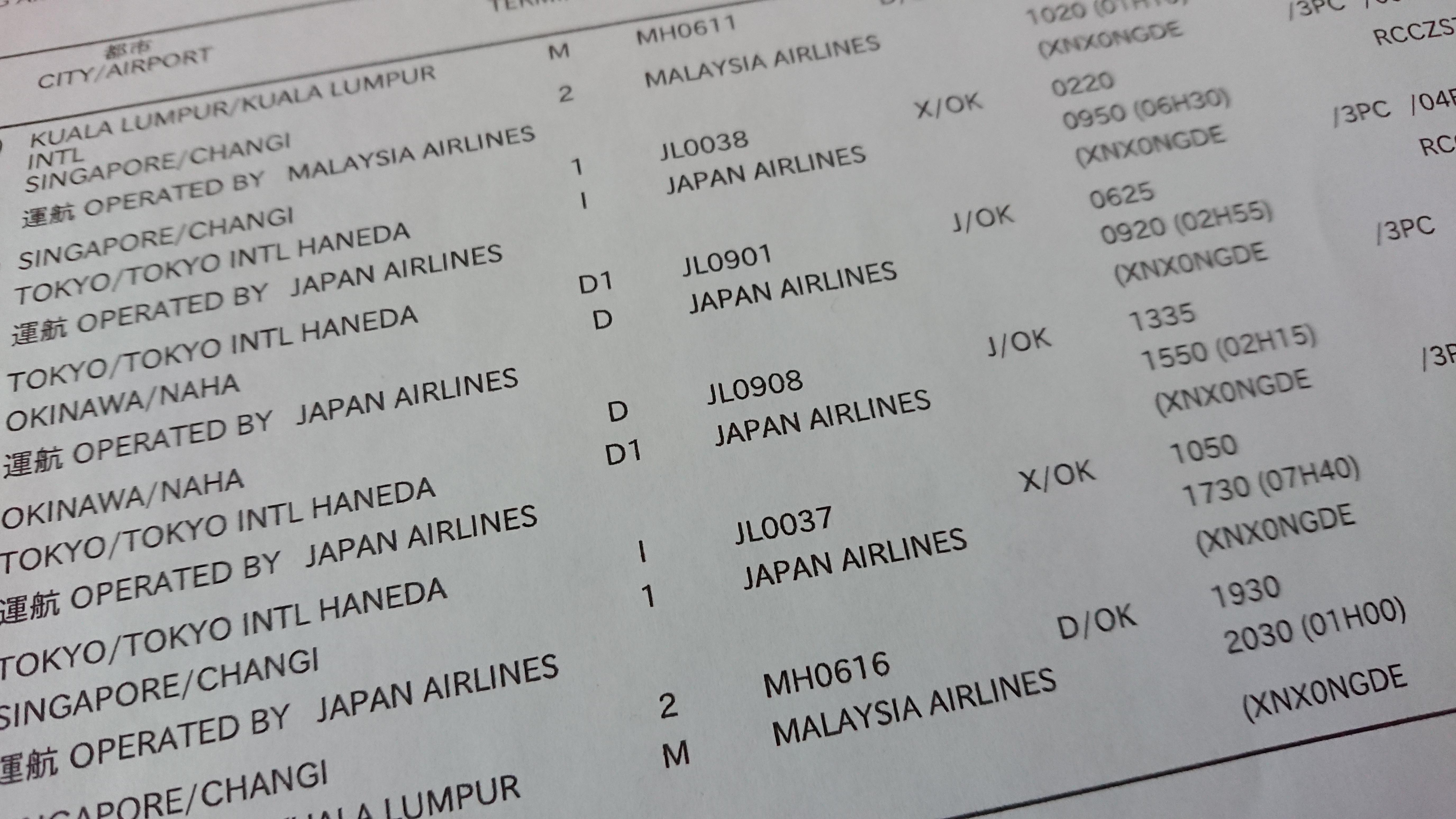 JAL国際線航空券