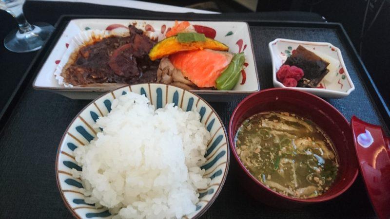 JL723 2017.11 機内食 ビジネスクラス
