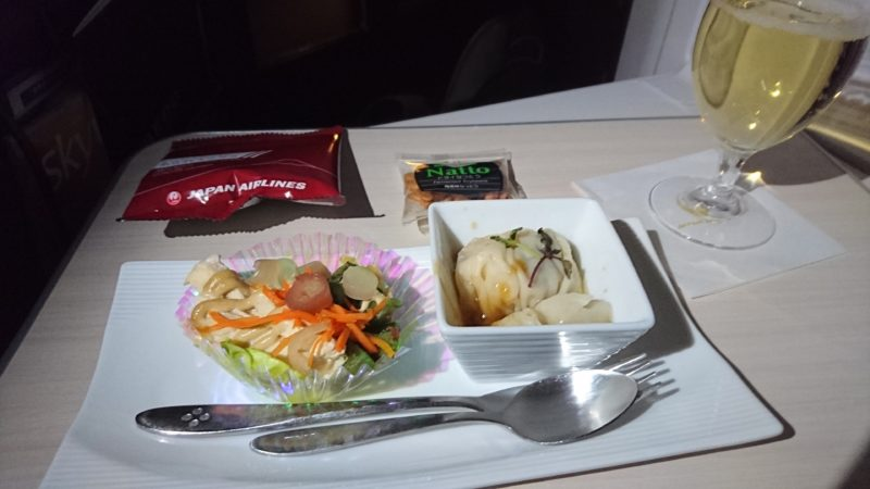 JAL JL036 2016.12.29 ビジネスクラス 機内食