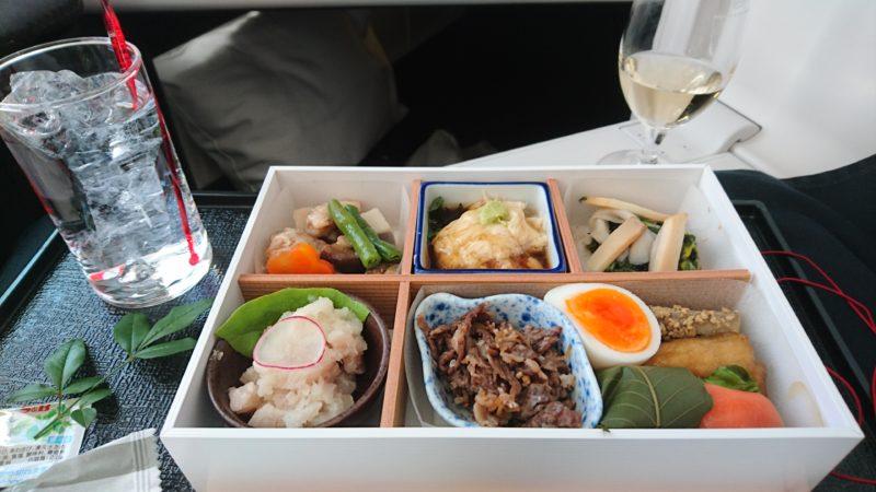 JL723 JAL ビジネスクラス 機内食