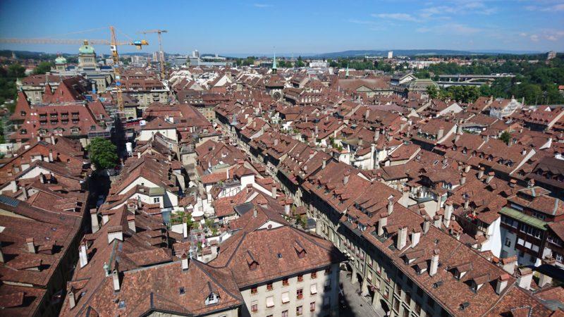 世界遺産ベルン大聖堂からの眺め