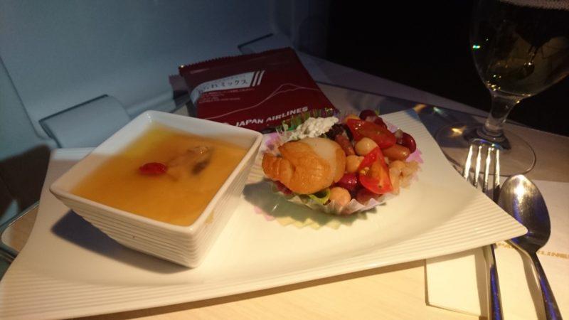 JAL034便 ビジネスクラス 機内食1