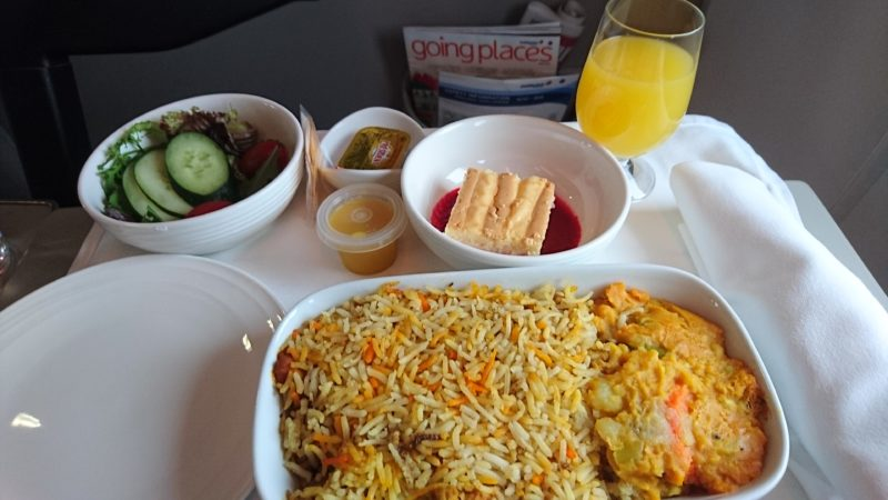 VN675 2016.05 ベトナム航空 ビジネスクラス 機内食