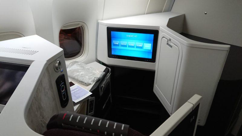 JAL B777-200ER型機 客室