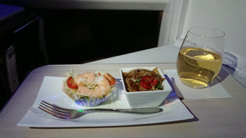 JL038 19年2月4日 ビジネスクラス 機内食