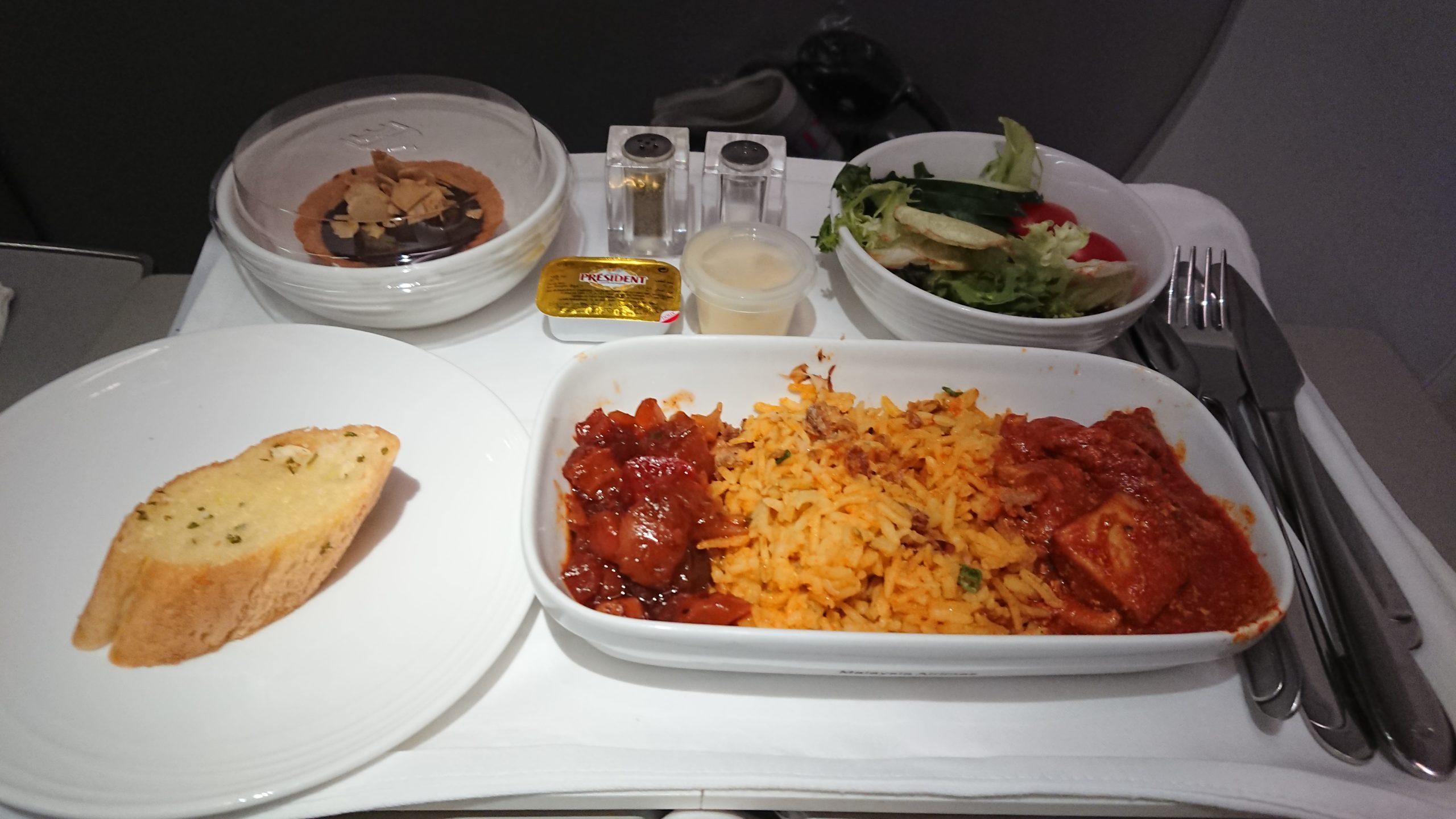 マレーシア航空 ビジネスクラス 機内食 MH727