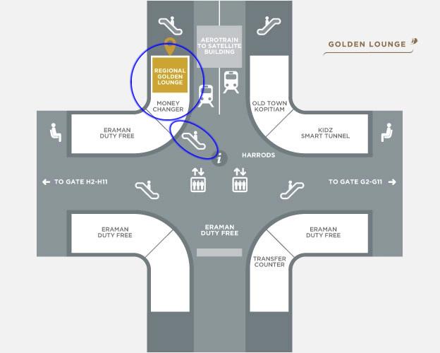 マレーシア航空 リージョナルラウンジ MAP