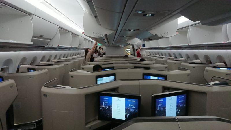 エアバスA350-1000型機 キャセイパシフィック ビジネスクラス シート