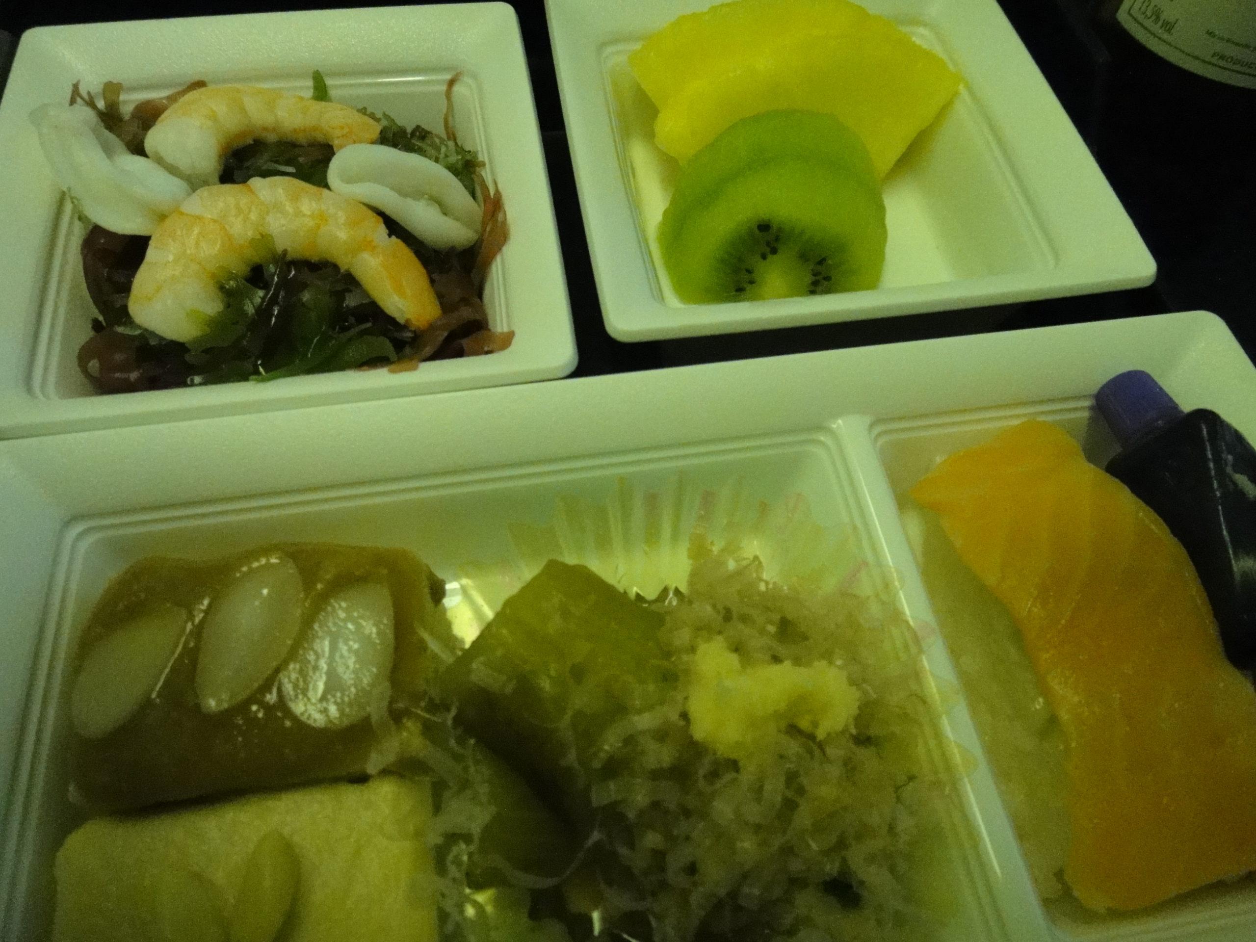 NH1163 FEB2012 ANA 機内食 エコノミークラス