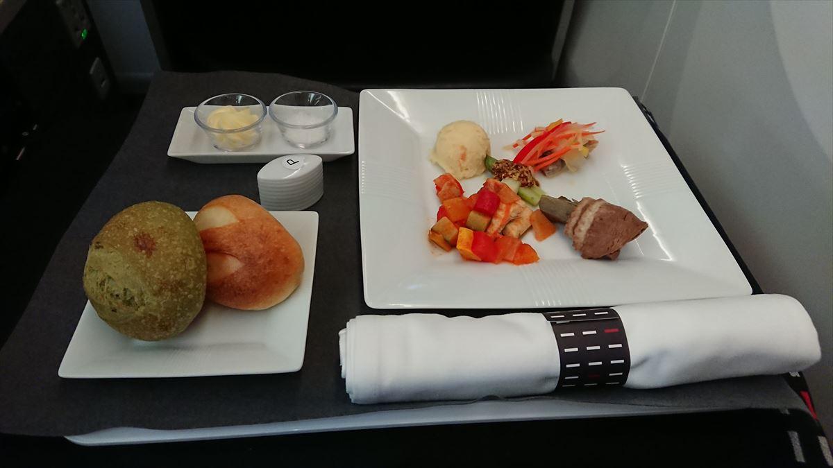 JL068 201907MAY ビジネスクラス 機内食