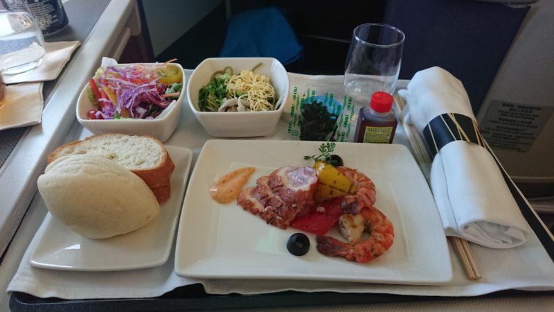 2018.3.12 CX519 キャセイパシフィック ビジネスクラス 機内食