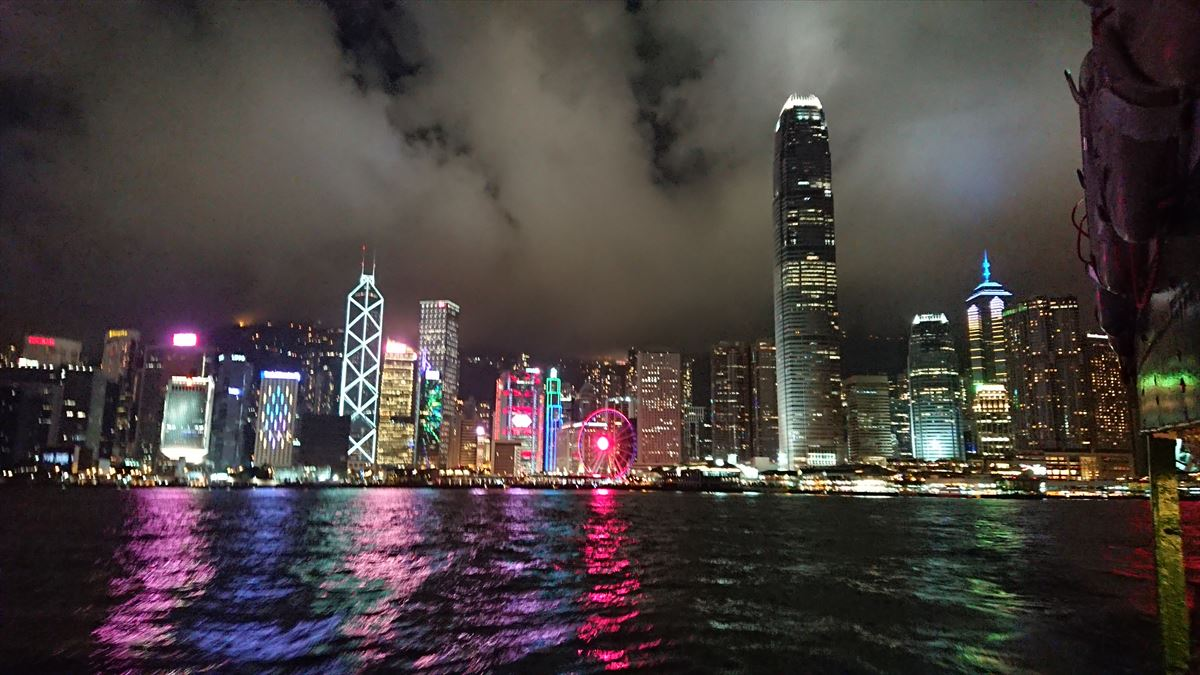 香港 スターフェリーからの眺め