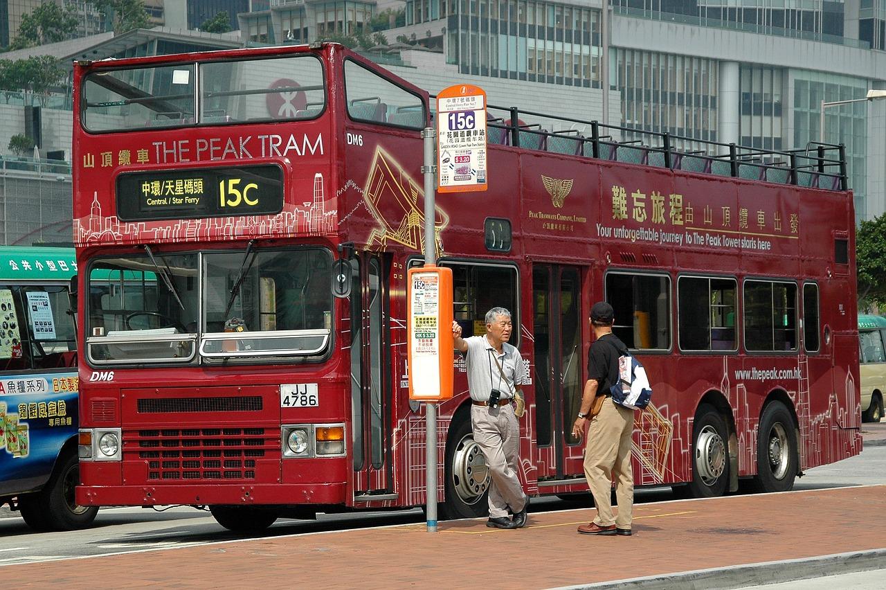 香港 ピークトラムバス