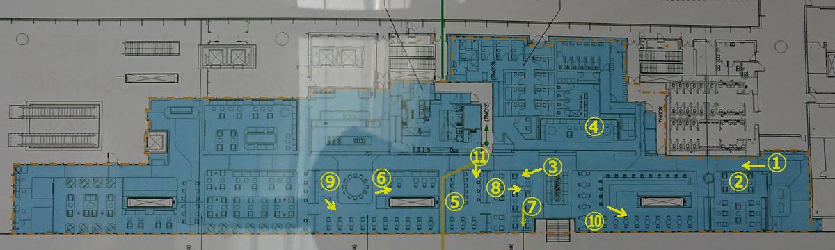 香港国際空港 カンタス航空 香港ラウンジ内 MAP