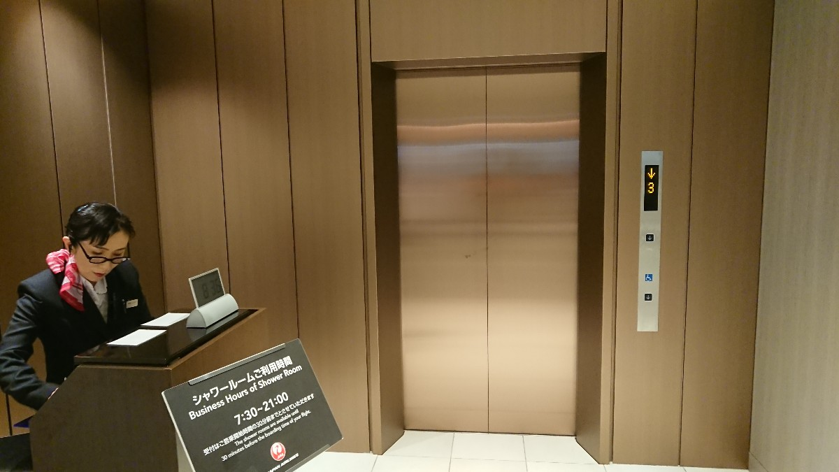 JAL 成田 ファーストクラスラウンジ シャワールーム