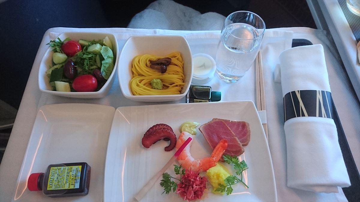 機内食の調味料 キャセイパシフィック