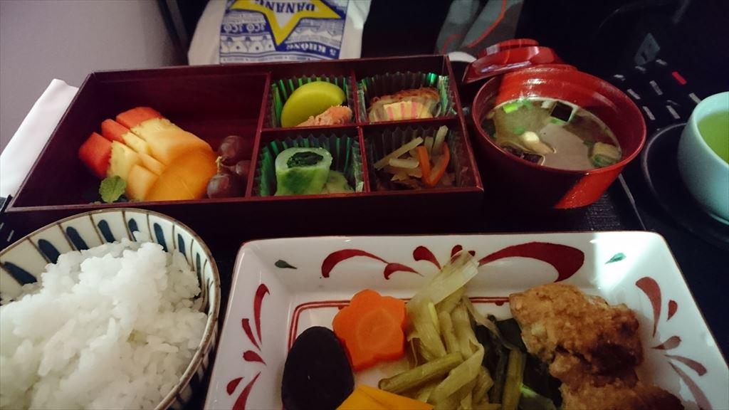 JL724 JAN17 KUL-NRT ビジネスクラス 機内食