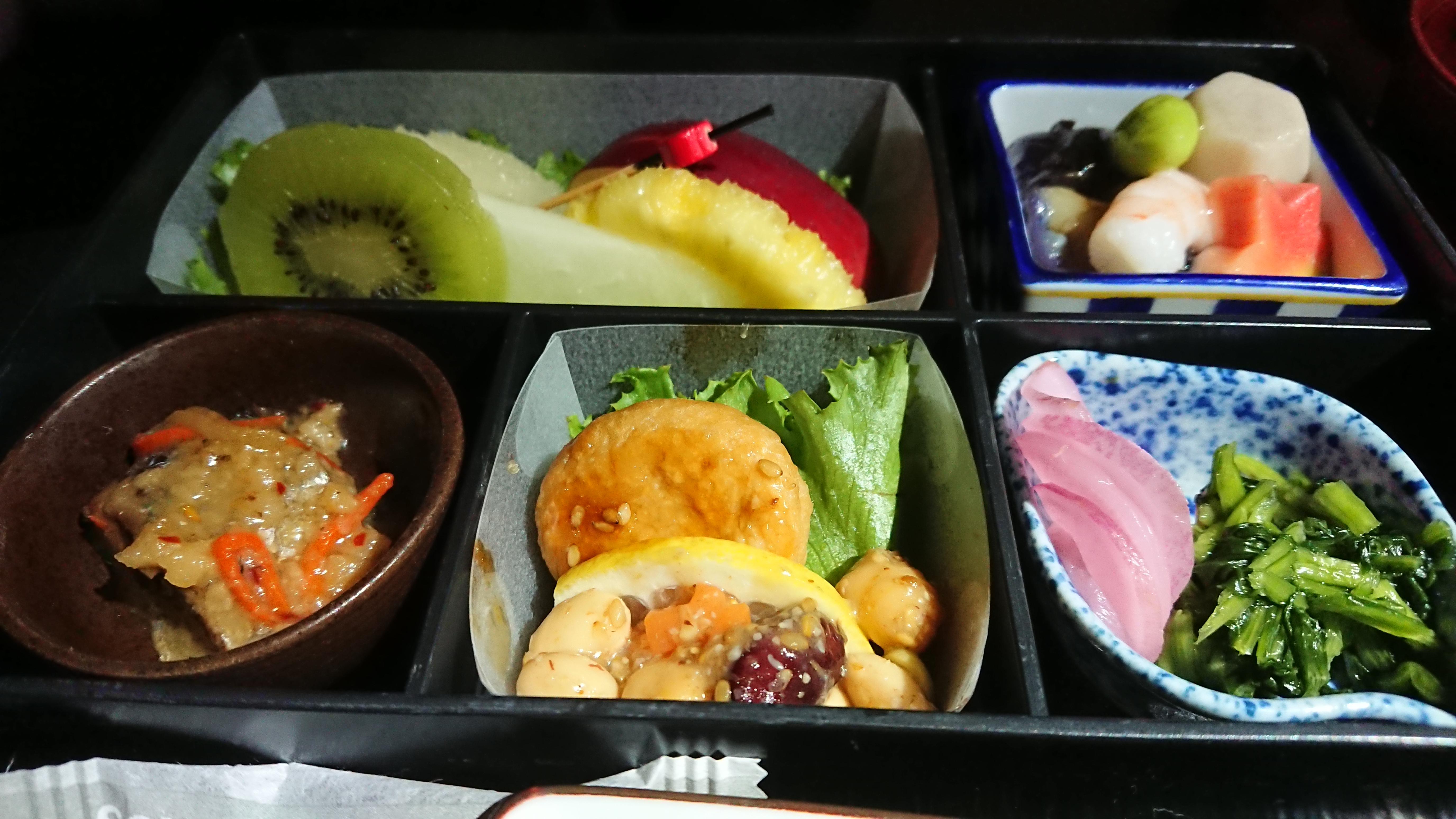 JL727 09SEP19 関空-バンコク ビジネスクラス 機内食