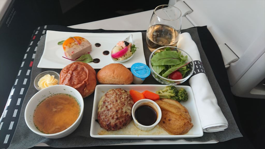 11SEP19 JL873 成田 - 上海(浦東)ビジネスクラス 機内食