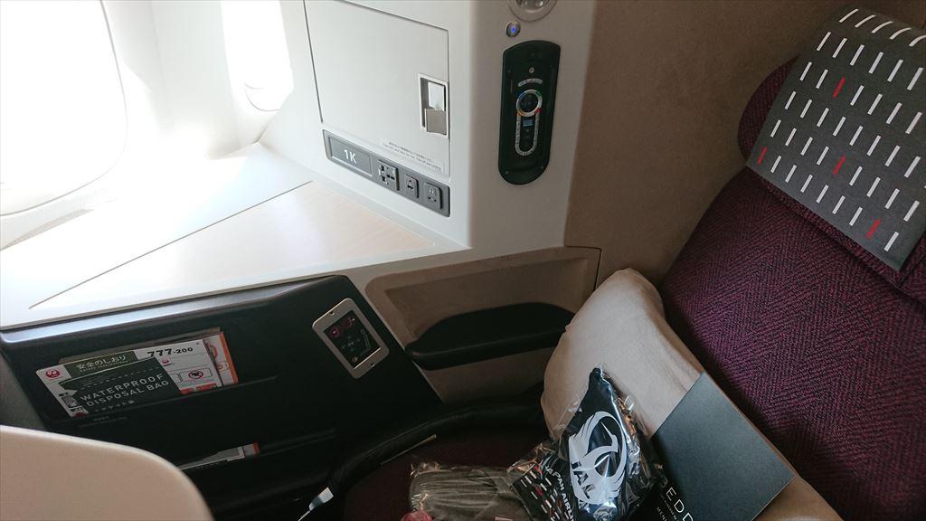 JL37 02OCT19 羽田~シンガポール ボーイングB777-200ER