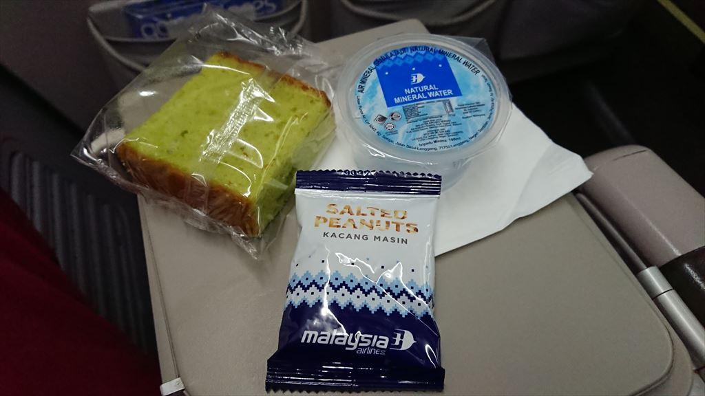 02OCT19 MH610 シンガポール - クアラルンプール エコノミー機内食