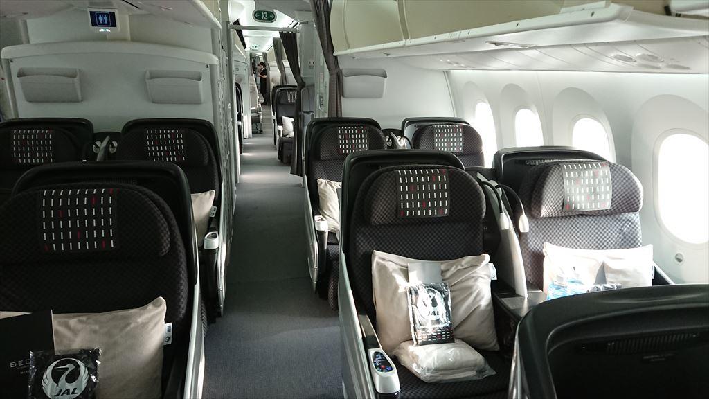 05OCT19 JL708 バンコク - 成田 ビジネスクラス