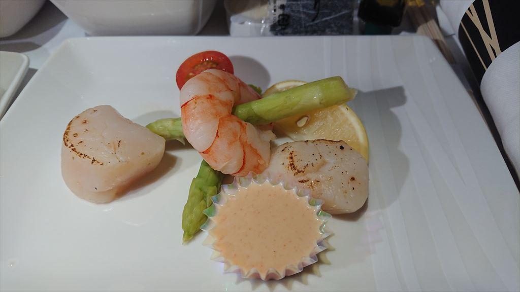 CX521 22NOV19 成田~香港 ビジネスクラス 機内食