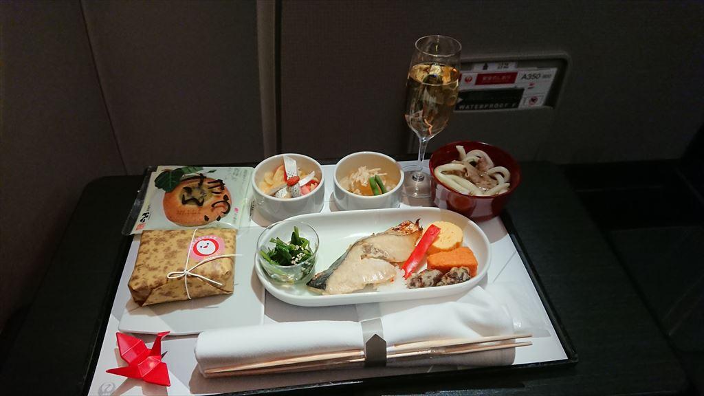 25DEC19 JL528 札幌 - 羽田 ファーストクラス 機内食