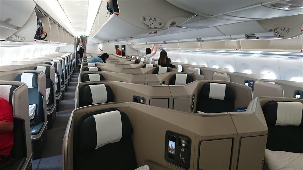 25NOV19 CX619 バンコク ~ シンガポール ビジネスクラス