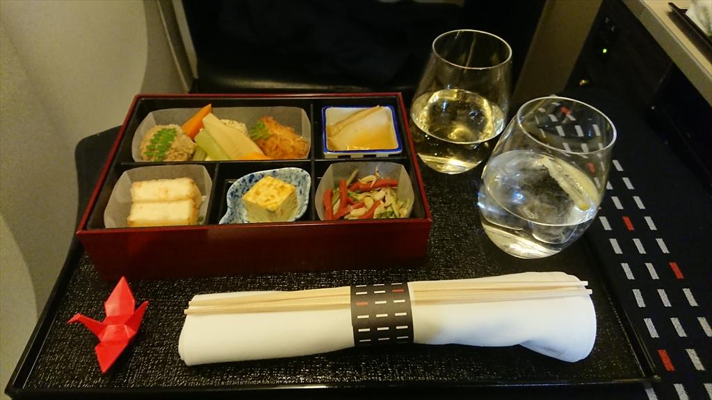 10MAR20 JL004 成田~ニューヨーク ビジネスクラス 機内食