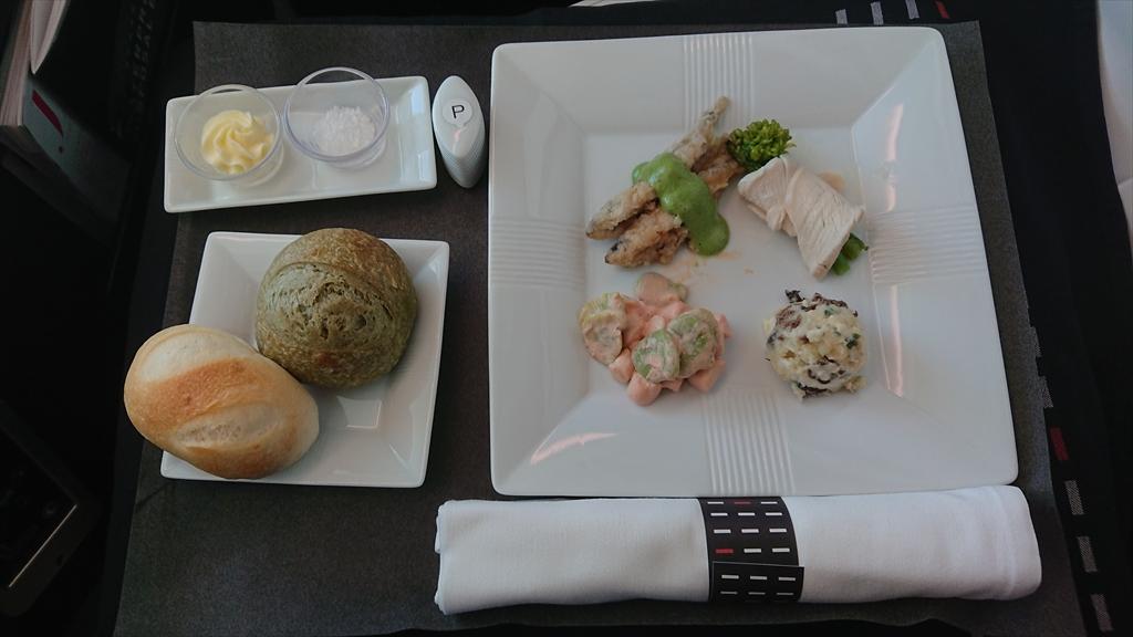 13MAR20 JL031 羽田~バンコク ビジネスクラス 機内食