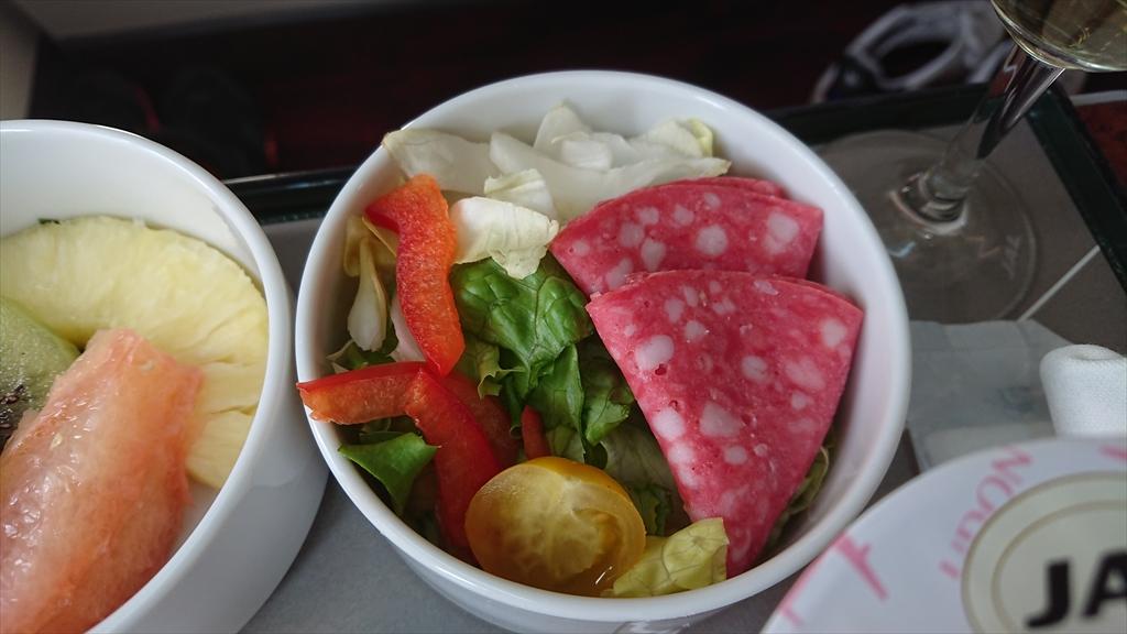 JAL JL307 羽田~福岡 ファーストクラス機内食