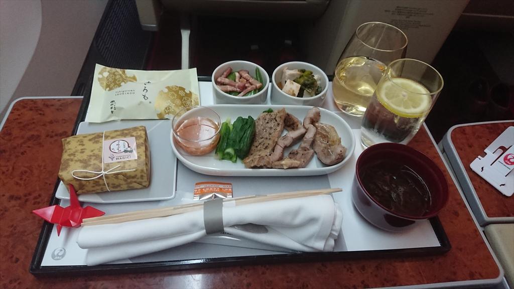 02APR20 JL522 札幌~羽田 ファーストクラス 機内食
