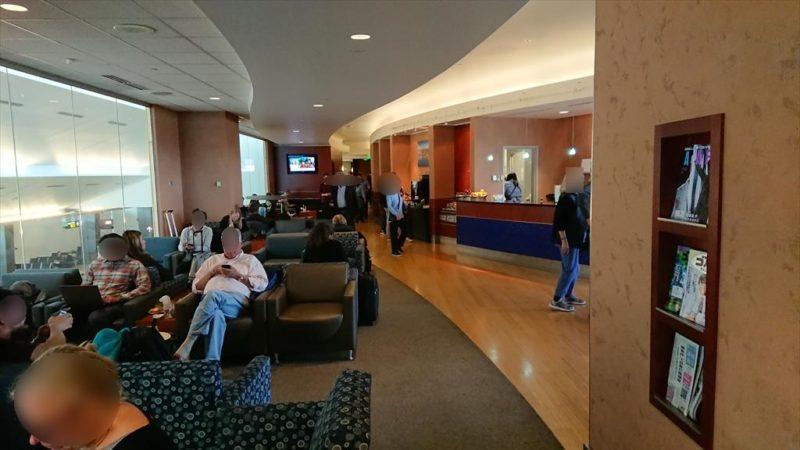 シアトル シータック国際空港 THE CLUB LOUNGE