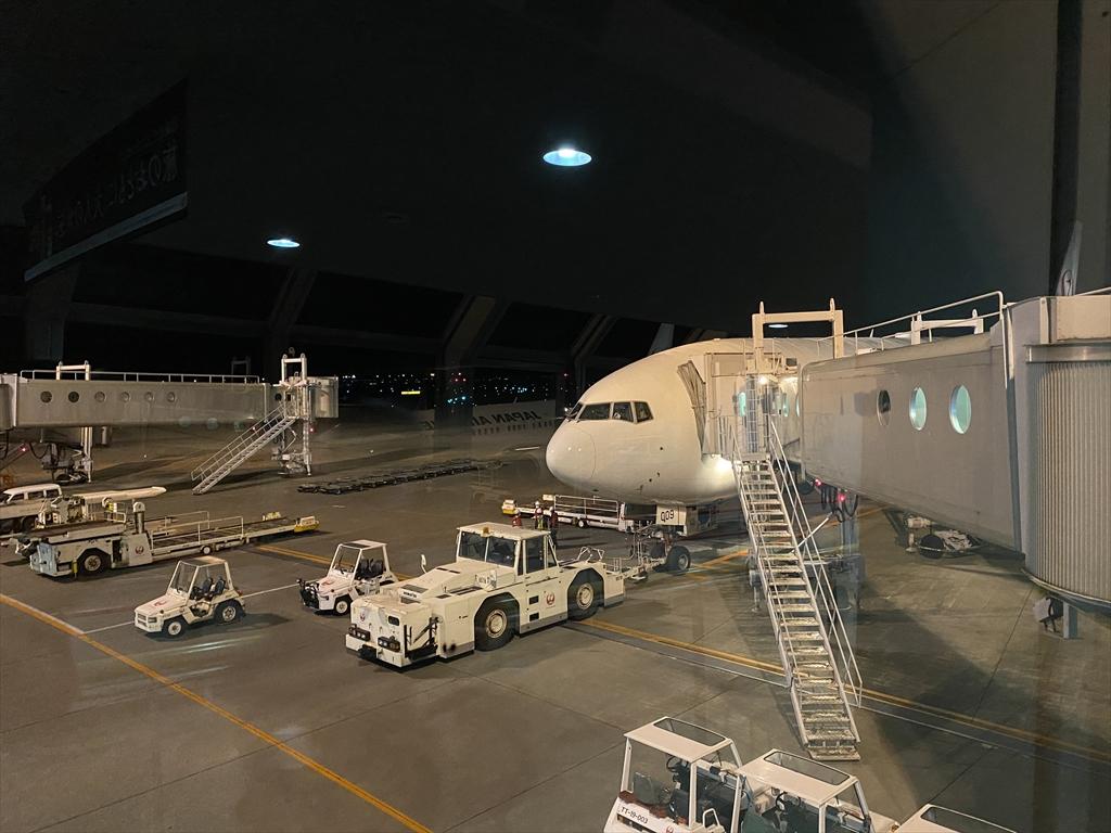 ボーイングB777-200型機 JL528 札幌(新千歳)~羽田 ファーストクラス 搭乗記 08OCT20