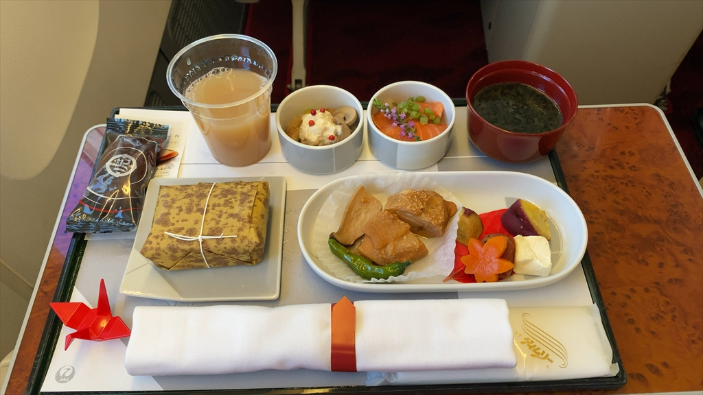 20SEP20 JL516 札幌(新千歳)~羽田 ファーストクラス 機内食