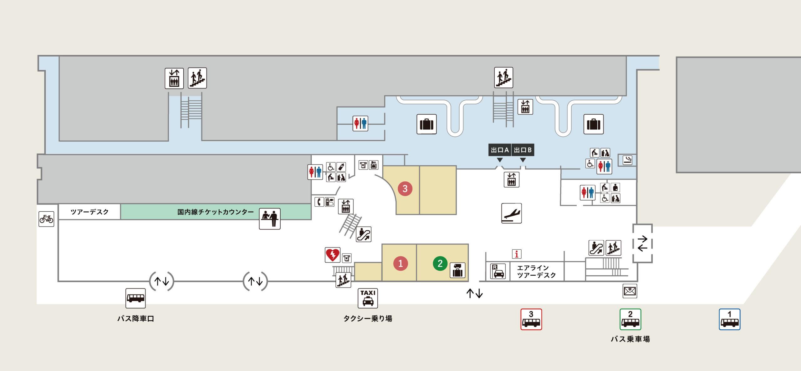 函館空港 国内線ターミナル1階