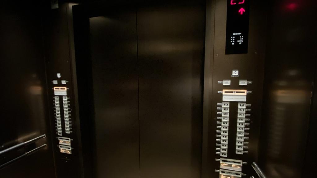 東京マリオットホテル エレベーター