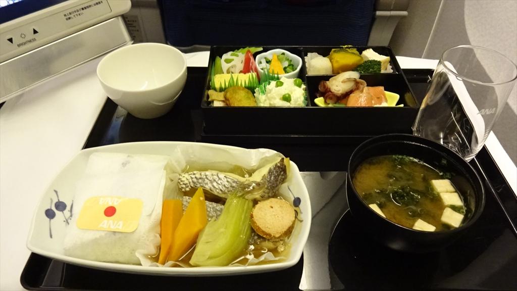 機内食回顧録シリーズ NH845 成田~シンガポール ビジネスクラス 和食