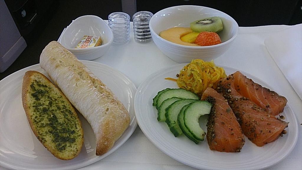 機内食回顧録シリーズ MH003便 パリ~クアラルンプール ビジネスクラス 2014.10