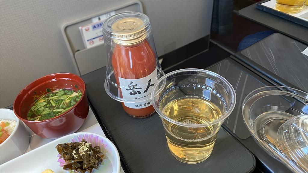 JAL JL904 沖縄(那覇)~羽田 ファーストクラス機内食 19JAN21