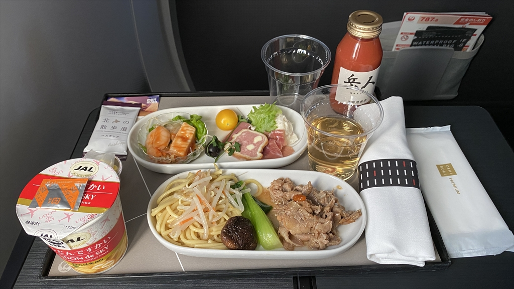JAL JL325 羽田~福岡 ファーストクラス機内食 19JAN21